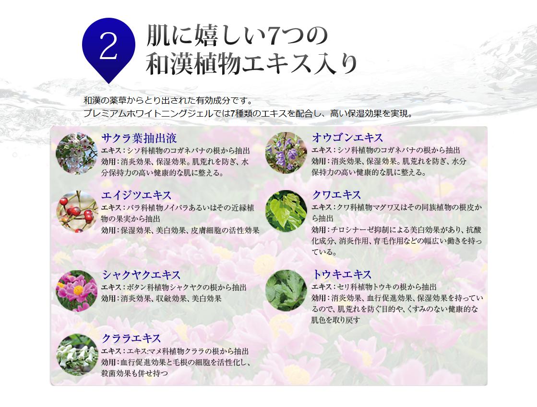 ポイント2 肌に嬉しい7つの和漢植物エキス入り
