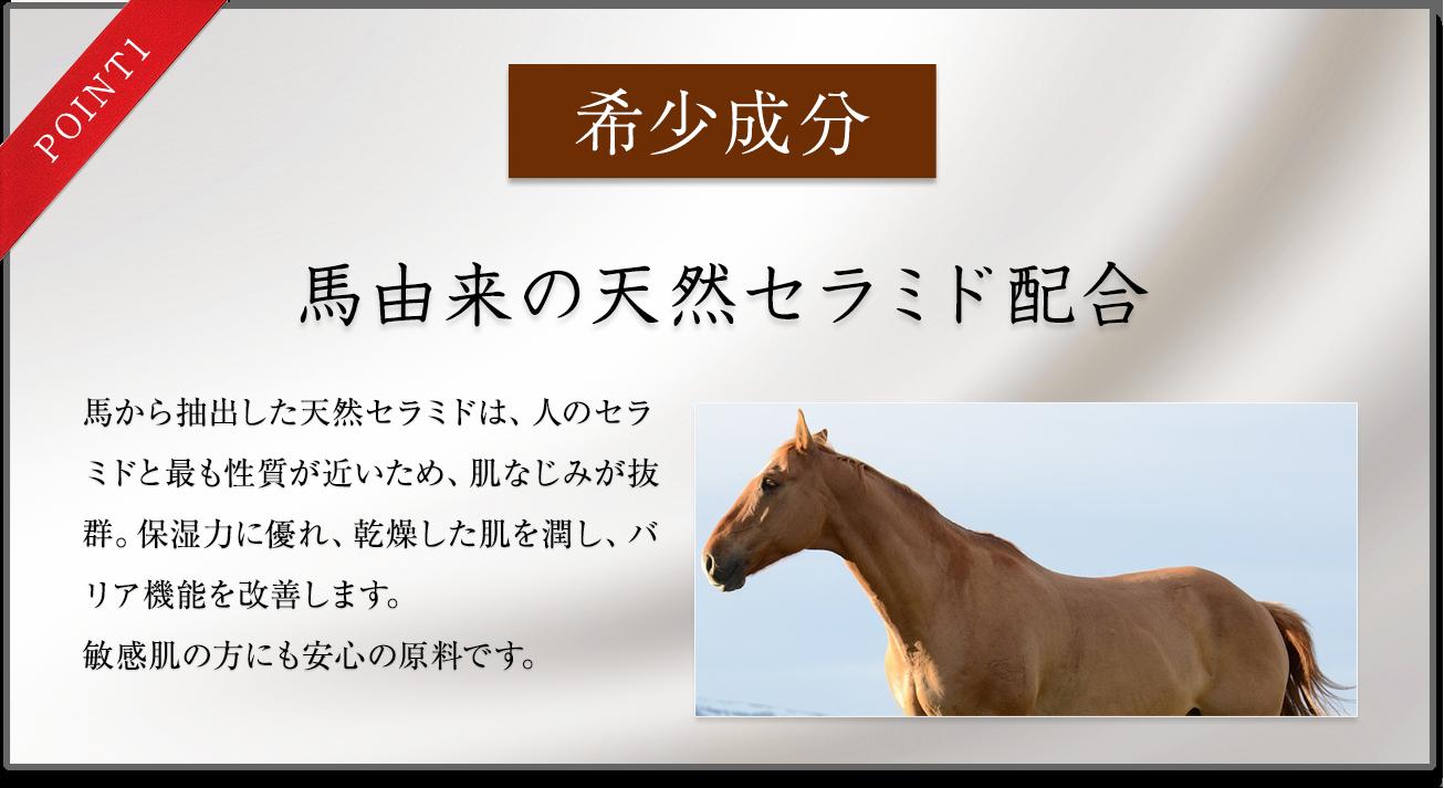 馬由来の天然セラミド配合