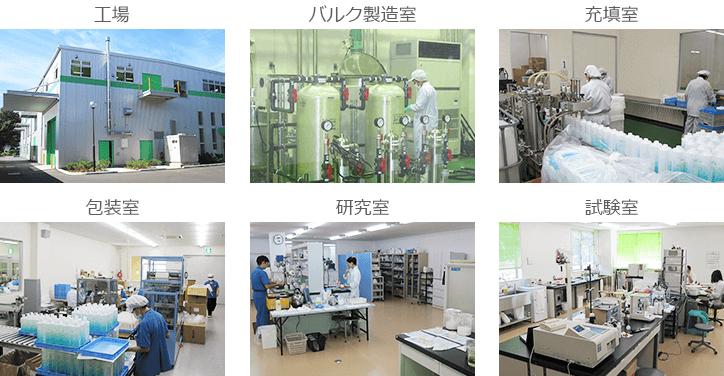 工場、バルク製造室、充填室包装室、研究室、試験室写真